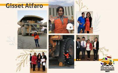 Gisset Alfaro, La juventud  marcando presencia en la minería.